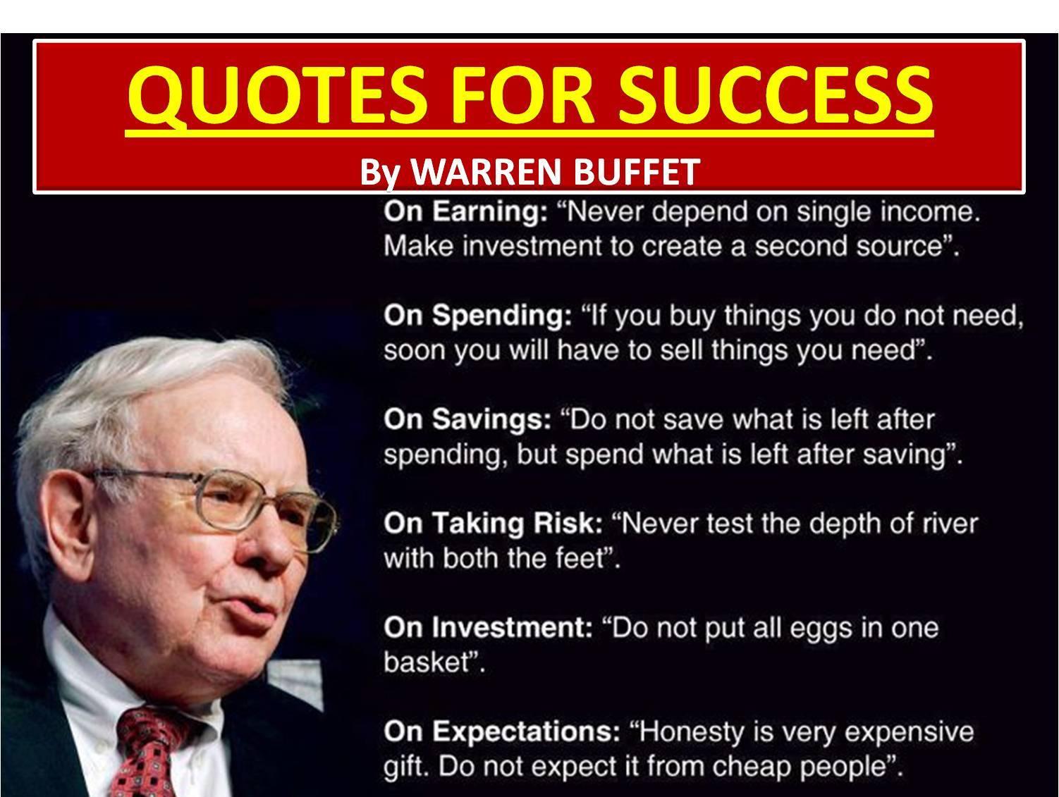 Quotes Success Quote By Warren Buffett Widescreen Wallpaper Hd