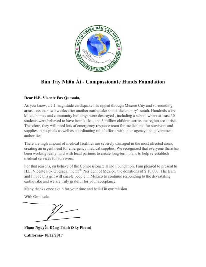Letter to Support Mexico-1